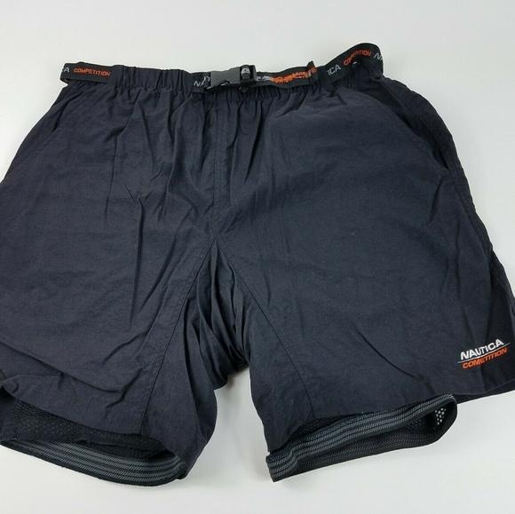 Nautica Mens Side Stripe Competition Fleece Short